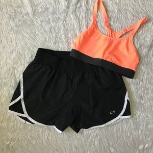 Champion : Black Shorts and Sport Compressor Bra